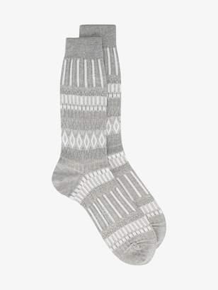 Ayame grey Basket Lunch patterned socks