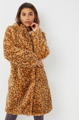 Next Womens Angeleye Leopard Print Coat
