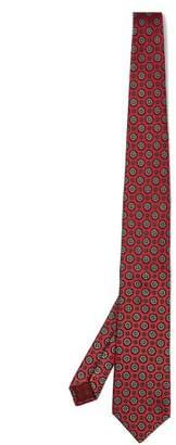 Gucci Floral Print Silk Tie - Mens - Navy Multi