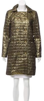 Anna Sui Metallic Knee-Length Coat