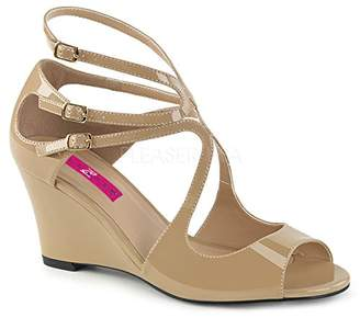 Pleaser USA Pink Label Women's Kim04/Cr Wedge Sandal