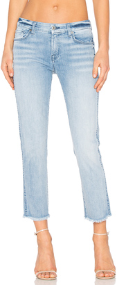 7 For All Mankind Distressed Unfinished Hem Ankle Straight $199 thestylecure.com