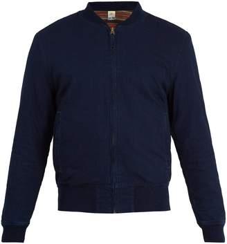 Faherty Reversible denim bomber jacket