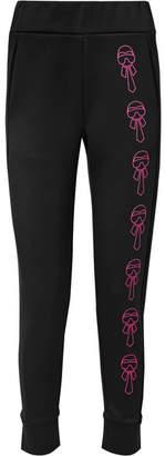 Fendi Karlito Embellished Scuba Track Pants - Black