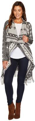 Stetson 1479 Wool Blend Black and White Cardigan Women's Sweater
