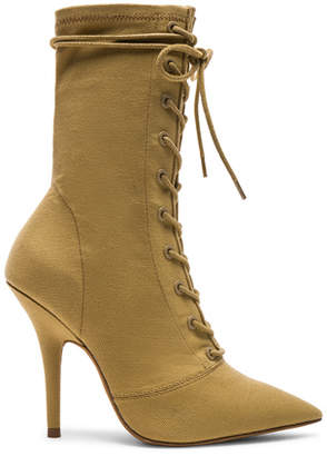 Yeezy Season 6 Stretch Canvas Lace Up Ankle Boots