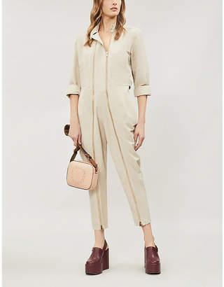 1f74290139e4 Stella McCartney Zip-detailed twill jumpsuit
