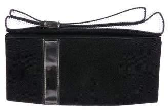 Zac Posen Textured Suede Bow-Accented Clutch