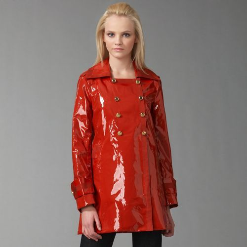 Marc by Marc Jacobs Flash Patent Raincoat