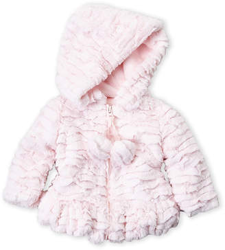 Baby Essentials American Widgeon (Newborn/Infant Girls) Faux Fur Pom Pom Coat