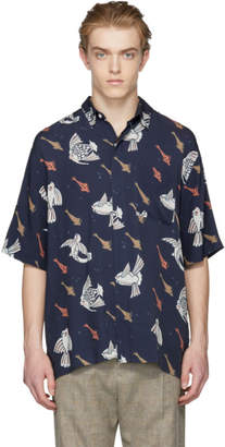 Hope Navy Ocean Print Shirt