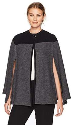 Kasper Women's Color Block Cape