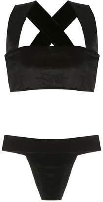 OSKLEN velvet bikini set
