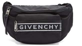 Givenchy Logo Jacquard Nylon Belt Bag - Mens - Black White