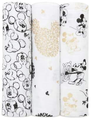 Aden Anais aden + anais Disney(R) Mickey's 90th 3-Pack Swaddling Cloths