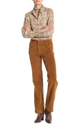 Free People Corduroy Hip Hugging Flare Pants