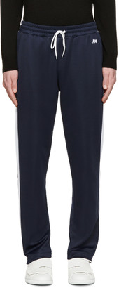 AMI Alexandre Mattiussi Navy Retro Track Pants $210 thestylecure.com