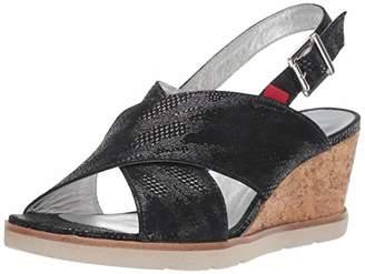 Marc Joseph New York Womens Leather Made in Brazil Criss Cross Wedge Sandal