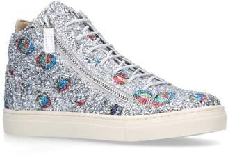 Giuseppe Zanotti Glitter Lunapark High-Top Sneakers
