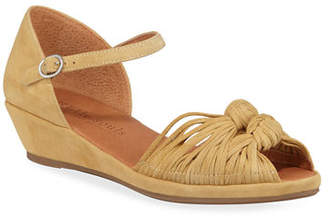 Gentle Souls Lily Knot Suede Wedge Sandals