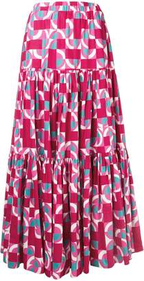 La Doublej geometric peasant skirt