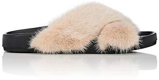 Barneys New York Women's Mink Fur Slide Sandals