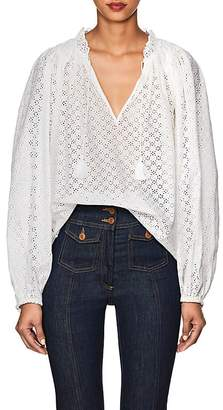 Ulla Johnson Women's Siarah Cotton Eyelet Blouse