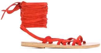 Ancient Greek Sandals tie Simply Kariatida sandals