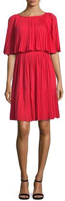 Kate Spade Pleated Overlay Dress