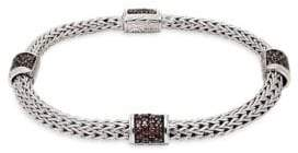John Hardy Sterling Silver & Sapphire Bracelet