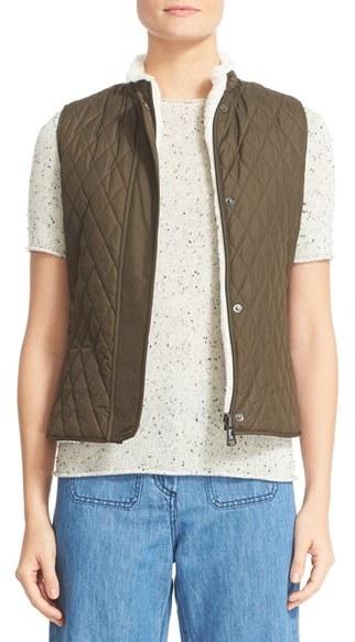 BelstaffWomen's Belstaff Westwell Reversible Faux Fur & Quilted Tech Vest