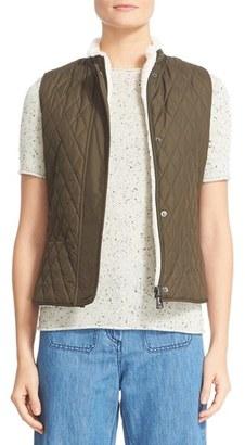 Women's Belstaff Westwell Reversible Faux Fur & Quilted Tech Vest $375 thestylecure.com