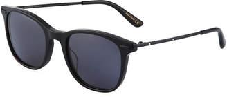 Bottega Veneta Round Acetate/Metal Sunglasses