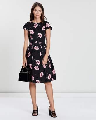 Dorothy Perkins Sateen Spotted Floral Tea Dress