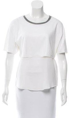 Sandro Layered Silk Top $65 thestylecure.com