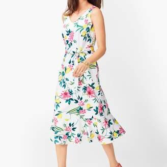 Talbots Lively Lemon Fit & Flare Dress
