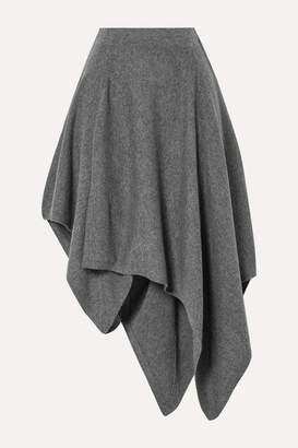 Michael Kors Asymmetric Cashmere Skirt - Gray