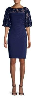 Lauren Ralph Lauren Short Sleeve Embroidered Sheath Dress
