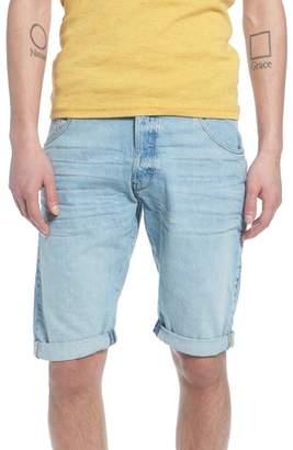 River Island Mens Lee Blue raw hem denim shorts Lee 3NkwDvZ