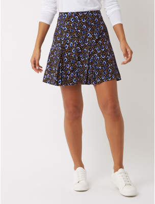 1854a10a5f George Black Spotty Button Front Skirt