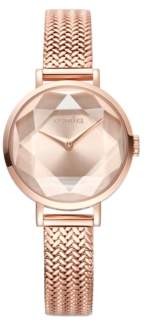RumbaTime Hudson Weave Gem Women's Rose Gold Watch