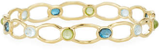 Ippolita 18k Gold Rock Candy Oval-Link Bangle in Green/Blue