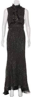 J. Mendel Silk-Blend Evening Dress