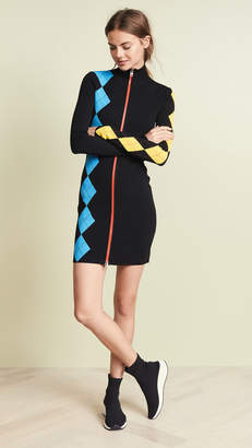Diane von Furstenberg Mock Neck Mini Dress