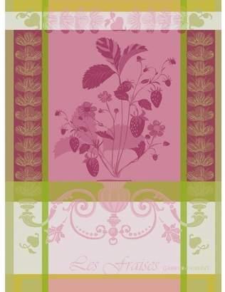 Garnier Thiebaut Garnier-Thiebaut 20266 100% two-ply twisted cotton Fraisier Kitchen Towel, 22 by 30-Inch