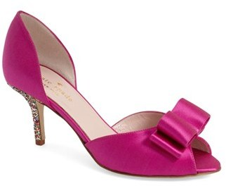 Kate SpadeWomen's Kate Spade New York 'Sela' Glitter Heel D'Orsay Pump