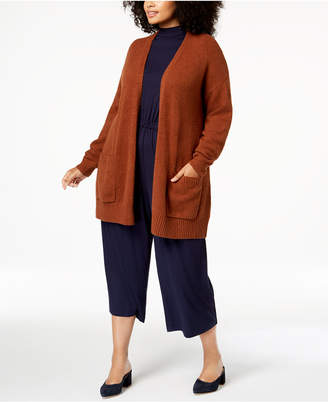 Eileen Fisher Plus Size Long Cardigan