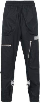 Off-White Track pants with zips and buckles