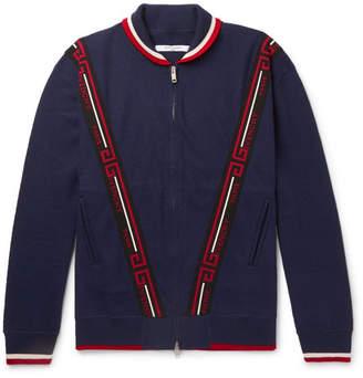 Givenchy Logo-Jacquard Wool Bomber Jacket - Navy