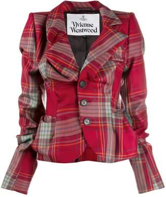 Vivienne Westwood check pattern blazer